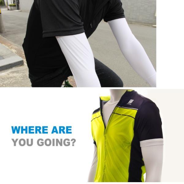 【送料無料】GORIX ゴリックス 自転車メッシュインナーウェア UVカット夏用涼 感フィット長袖Tシャツ ホワイト 日焼け対策 清涼感(GW-TS1)|gorix|04