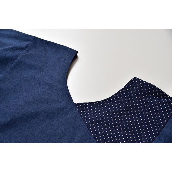 割烹着 かっぽうぎ 制服 レディース 女性 洗える 日本製 [かっぽう着 黒系 水色系 青 紺 赤 ピンク グレー (F・LL)] 母の日 ギフト|gosaido|13