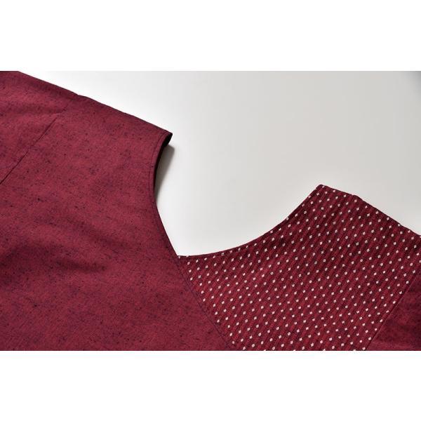 割烹着 かっぽうぎ 制服 レディース 女性 洗える 日本製 [かっぽう着 黒系 水色系 青 紺 赤 ピンク グレー (F・LL)] 母の日 ギフト|gosaido|14