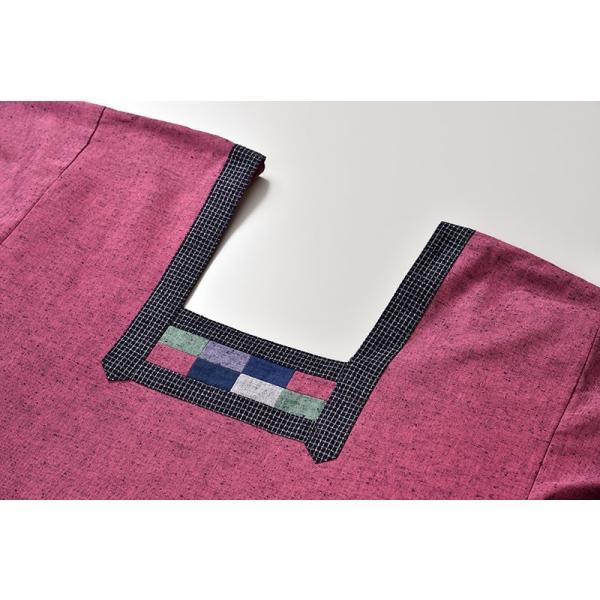 割烹着 かっぽうぎ 制服 レディース 女性 洗える 日本製 [かっぽう着 黒系 水色系 青 紺 赤 ピンク グレー (F・LL)] 母の日 ギフト|gosaido|15