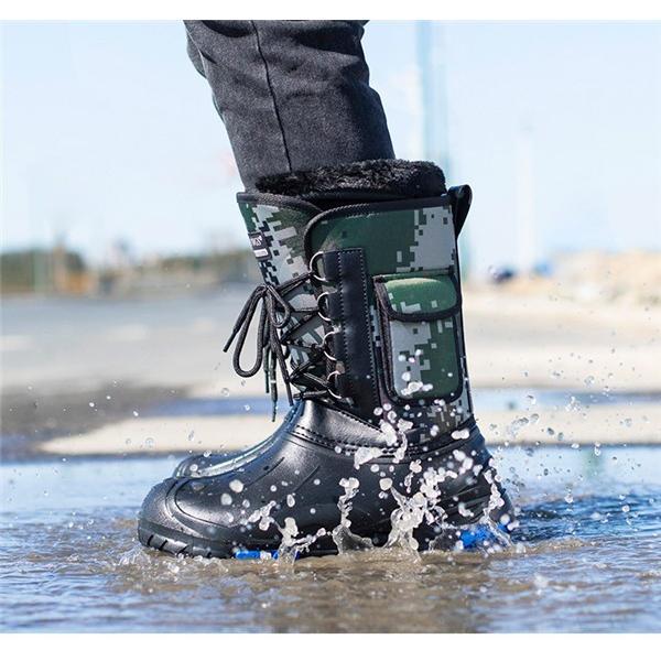 スノーブーツ メンズ レディース 防寒シューズ 防水 超軽量 滑り止め スノーシューズ|goshu-kiki|12