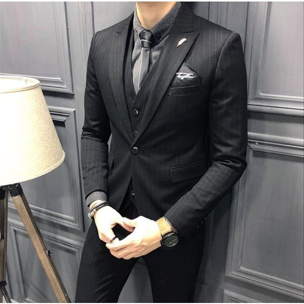 ビジネススーツ フォーマル カジュアル 父の日 スーツ メンズ スリーピーススーツ 3ピース 3点セット 成人式 就活|goshu-kiki