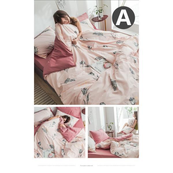 布団カバー シーツ 枕カバー 3点セット 洋式 ビスコース ダブル 寝具 涼感 枕カバー 滑らか 母の日 プレゼント|goshu-kiki|02