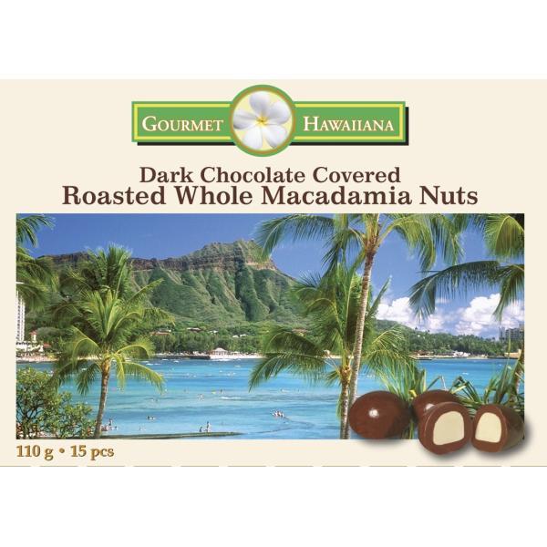 ハワイ産マカダミアナッツのダークチョコレート110g 10箱セット【お土産に最適】