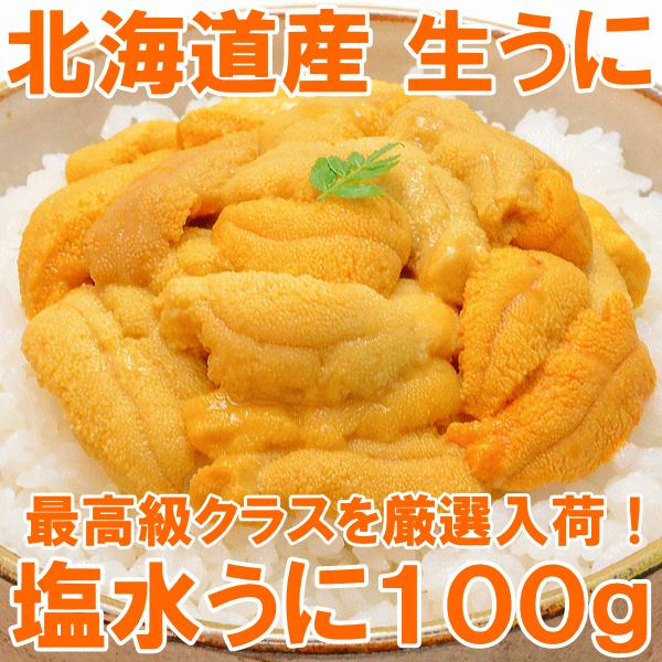 塩水うに(北海道産 生ウニ 生う に 100g/日時指定不可)(ウニ うに 雲丹)|gourmet-no-ousama