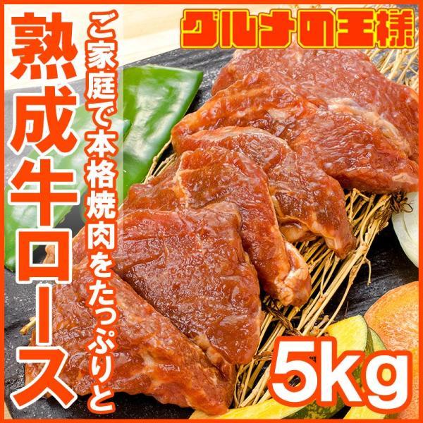 牛ロース ロース 焼肉 合計 5kg 500g×10パック 業務用 熟成牛 熟成肉 味付け ロース肉 牛肉 肉 お肉 鉄板焼き ステーキ BBQ ギフト