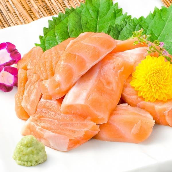 (訳あり わけあり ワケあり)サーモン 大トロ ハラス 切り落とし 500g(生食用スライス 500g アトランティックサーモン) gourmet-no-ousama 02