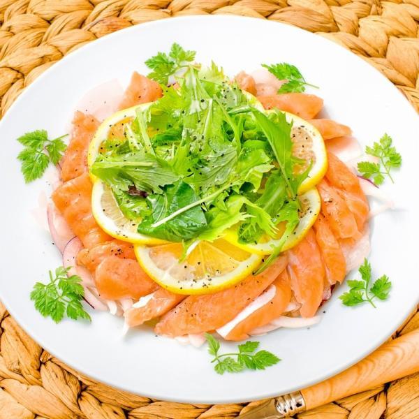 (訳あり わけあり ワケあり)サーモン 大トロ ハラス 切り落とし 500g(生食用スライス 500g アトランティックサーモン) gourmet-no-ousama 12