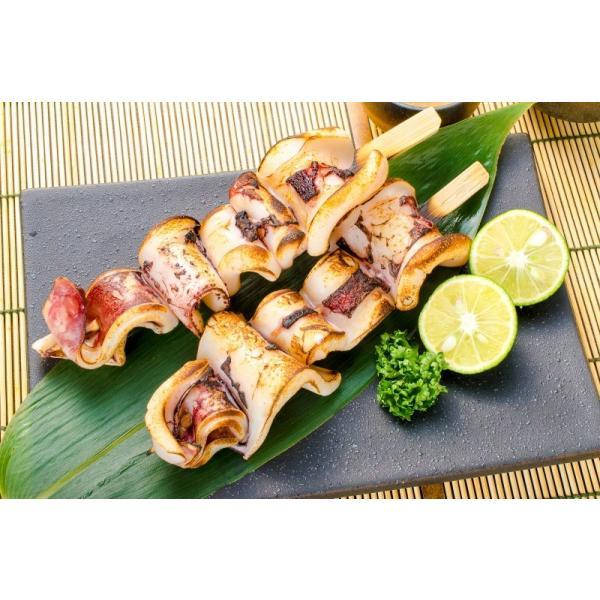 いかおやじ串 イカ串 10本 1本75〜85g前後 海鮮串(BBQ バーベキュー)(いか イカ 烏賊)|gourmet-no-ousama|02