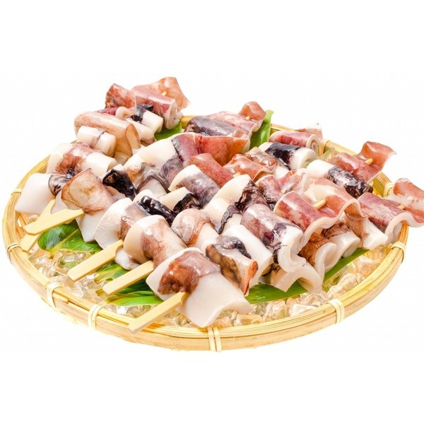 いかおやじ串 イカ串 10本 1本75〜85g前後 海鮮串(BBQ バーベキュー)(いか イカ 烏賊)|gourmet-no-ousama|10