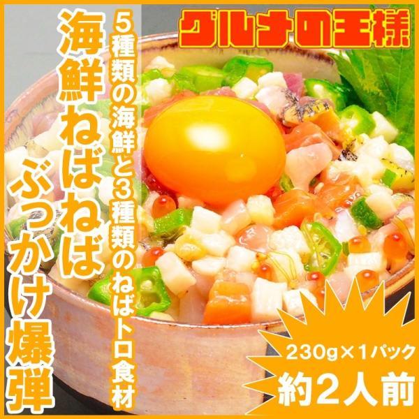 海鮮ねばねばぶっかけ爆弾(230g×1・約2人前) gourmet-no-ousama
