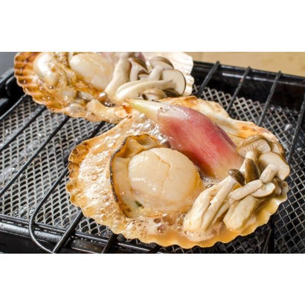 ホタテ ほたて 特大 片貝ほたて 20枚 10枚×2袋 (殻付きほたて 帆立 貝 バター焼き 浜焼き バーベキュー BBQ 業務用 築地市場 ギフト)|gourmet-no-ousama|10