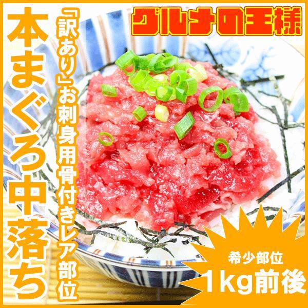 本まぐろ 本マグロ 本鮪 中落ち 1kg前後 骨付き(ナカオチ なかおち )海鮮丼 ネギトロ 刺身|gourmet-no-ousama