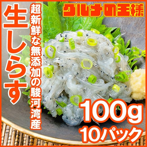 生しらす 生シラス(1kg 100g×10パック 約20人前)