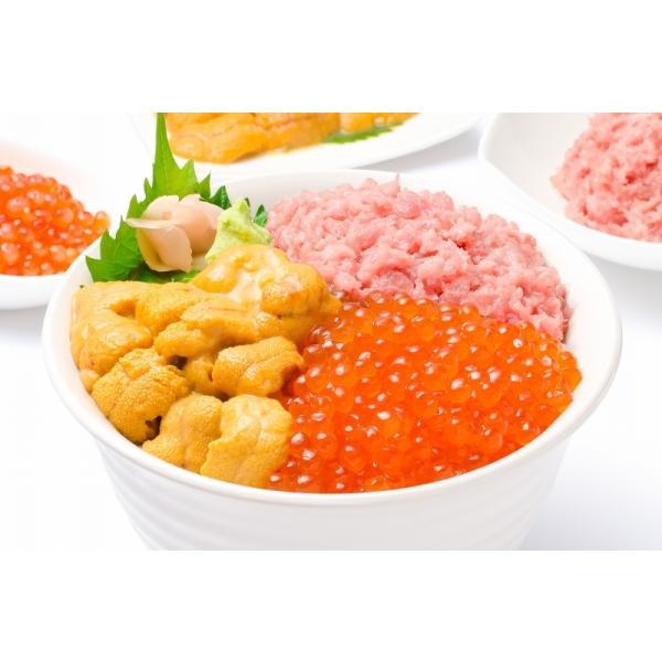 築地の海鮮丼セット(至高・約2杯分)王様のネギトロ&無添加生ウニ&北海道産いくら|gourmet-no-ousama|06