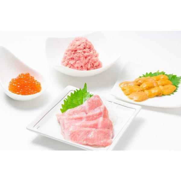 築地の海鮮丼セット(究極・約2杯分)本マグロ大トロ特盛り200g&無添加生うに&北海道産イクラ&王様のネギトロ|gourmet-no-ousama|03