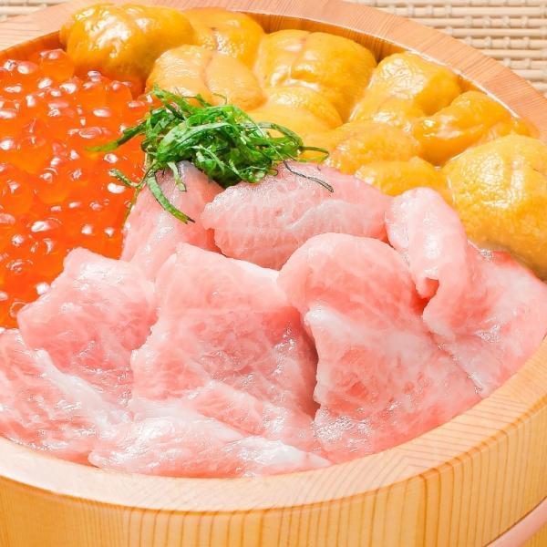 築地の海鮮丼セット(極み・約2杯分)本マグロ大トロ特盛り200g&無添加生うに&北海道産イクラ|gourmet-no-ousama|02