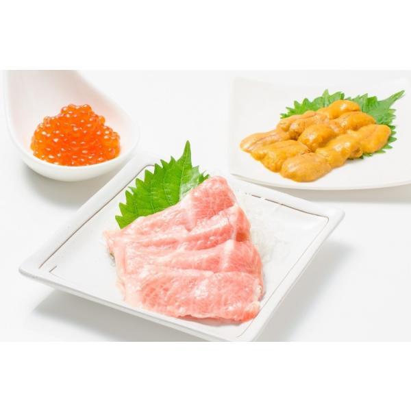 築地の海鮮丼セット(極み・約2杯分)本マグロ大トロ特盛り200g&無添加生うに&北海道産イクラ|gourmet-no-ousama|03