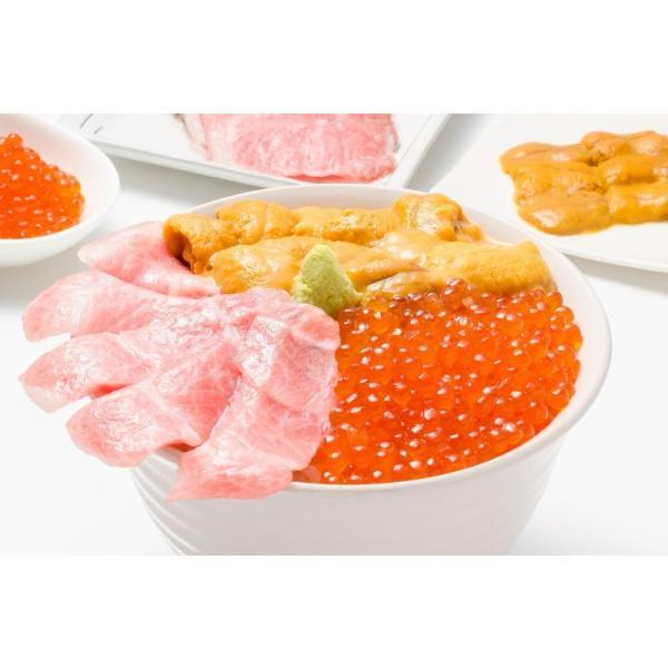 築地の海鮮丼セット(極み・約2杯分)本マグロ大トロ特盛り200g&無添加生うに&北海道産イクラ|gourmet-no-ousama|04
