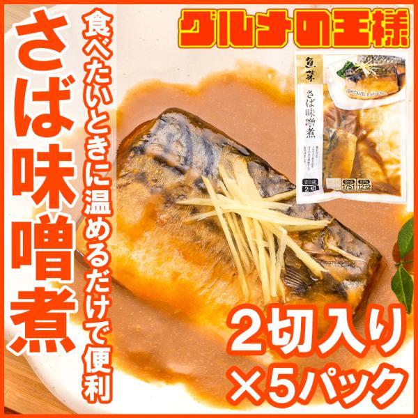 さば味噌煮 2枚×5パック さばの味噌煮 鯖煮付け さば サバ 鯖 さば味噌 サバ味噌 煮魚 煮付け 切り身 魚菜 ファストフィッシュ レトルトパック