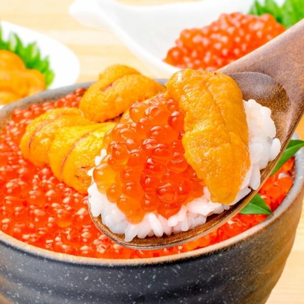 築地市場のウニイクラ丼セット(2杯分・無添加生ウニ100g&いくら醤油漬け100g)海鮮丼で約2杯分|gourmet-no-ousama|02