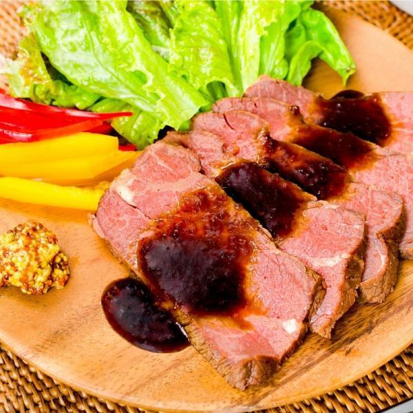 (訳あり 訳アリ わけあり) ローストビーフ ブロック 2kg 前後 詰め合わせ 霜降り トモサンカク デパ地下仕様 高級 牛肉 モモ肉|gourmet-no-ousama|02