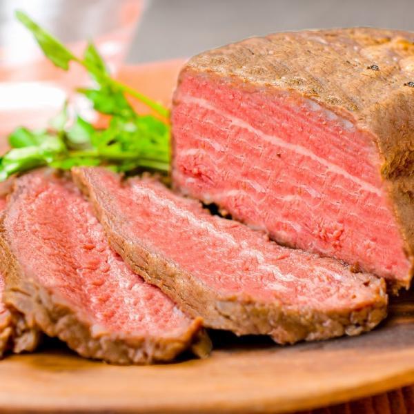 (訳あり 訳アリ わけあり) ローストビーフ ブロック 2kg 前後 詰め合わせ 霜降り トモサンカク デパ地下仕様 高級 牛肉 モモ肉|gourmet-no-ousama|03