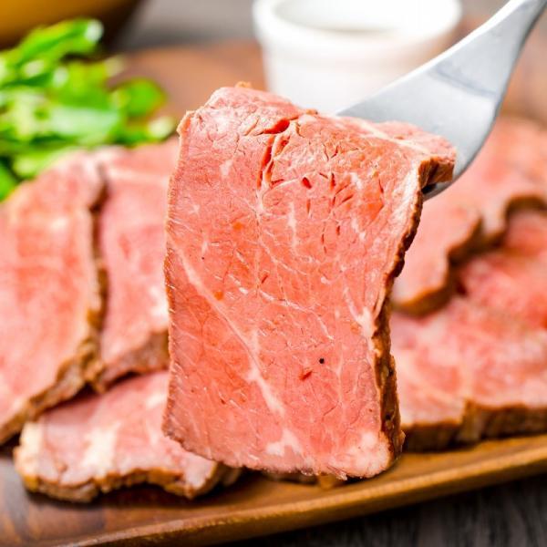 (訳あり 訳アリ わけあり) ローストビーフ ブロック 2kg 前後 詰め合わせ 霜降り トモサンカク デパ地下仕様 高級 牛肉 モモ肉|gourmet-no-ousama|06