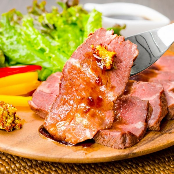 (訳あり 訳アリ わけあり) ローストビーフ ブロック 400g - 500g 前後 霜降り トモサンカク デパ地下仕様 高級 牛肉 モモ肉|gourmet-no-ousama|09