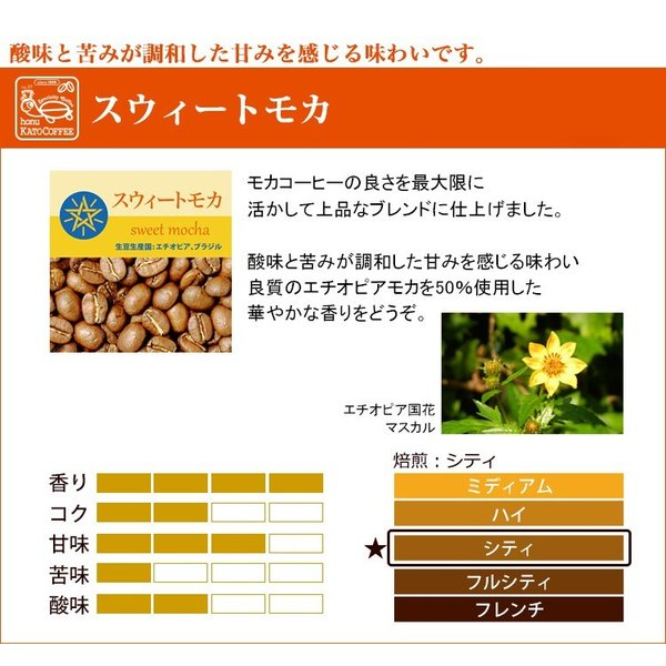 [1kg]スウィートモカ500g×2袋セット(スウィート×2)/珈琲豆 gourmetcoffee 02