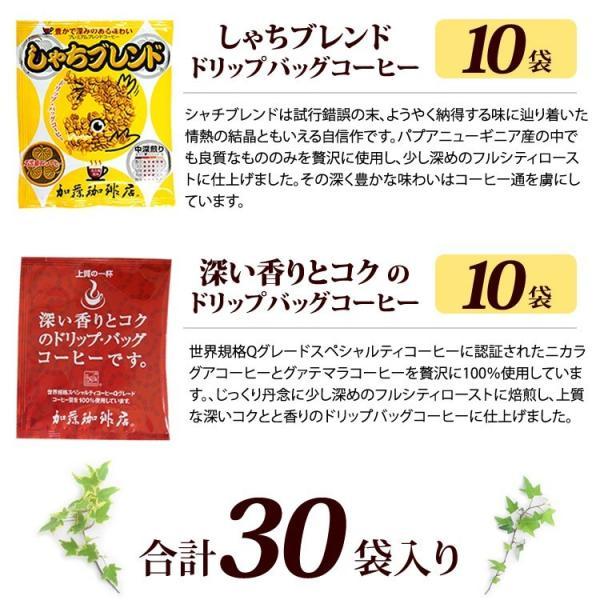ドリップコーヒー コーヒー 30袋セット 毎日のドリップバッグコーヒー(深10・鯱10・G10 各10袋) 珈琲 加藤珈琲|gourmetcoffee|04