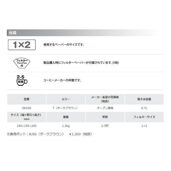 メリタ社製 エズ SKG56コーヒーメーカー付福袋(Qグァテ200g)|gourmetcoffee|04