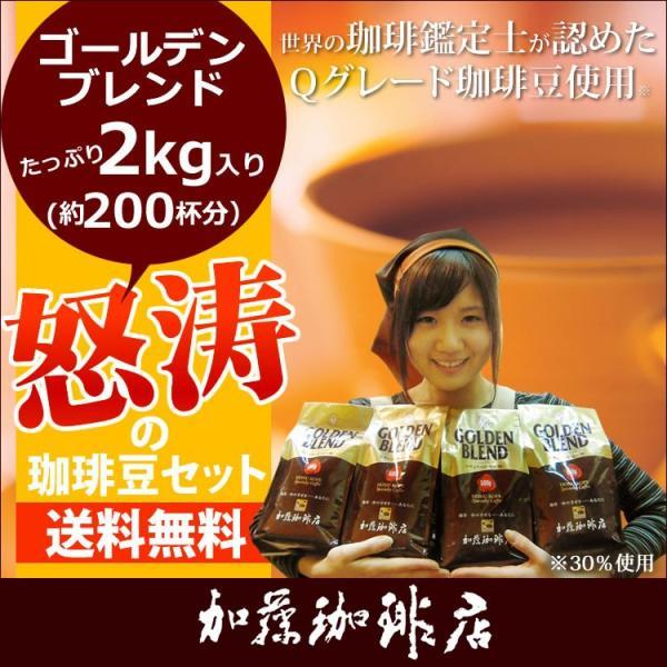ポイント10倍 2kg入・怒涛の珈琲豆セット(G500×4)/珈琲豆 コーヒー豆 コーヒー|gourmetcoffee