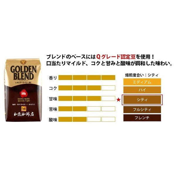 [1kg]ゴールデンブレンドセット[G500×2]/珈琲豆 コーヒー豆 コーヒー|gourmetcoffee|02