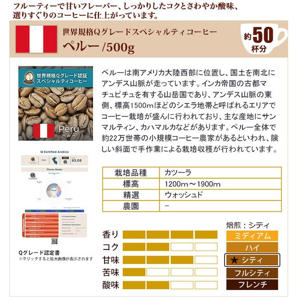 タイプ7(R)スペシャルティ珈琲大入り福袋(Qペルー・Hコロ・白鯱/各500g)/珈琲豆|gourmetcoffee|02