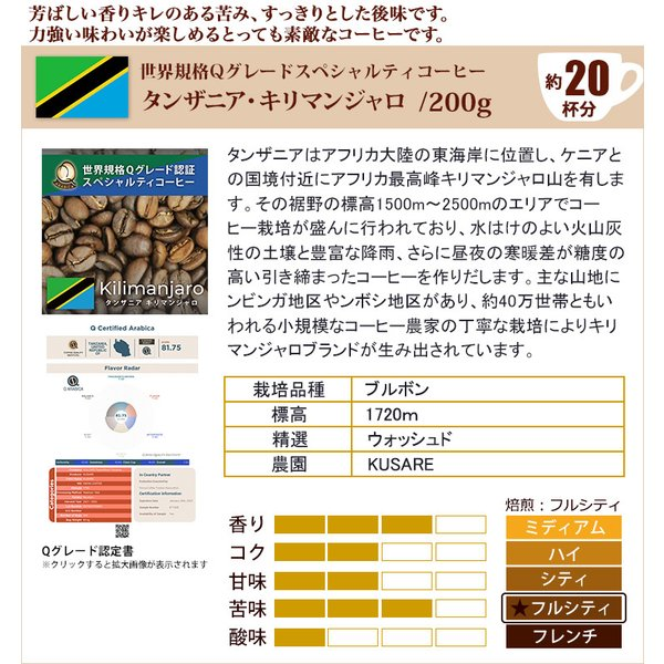 Qグレード6種類飲み比べ (Qブラ・Qコス・Qコロ・Qグァテ・Qエル・Qペル/各200g)/珈琲豆|gourmetcoffee|05