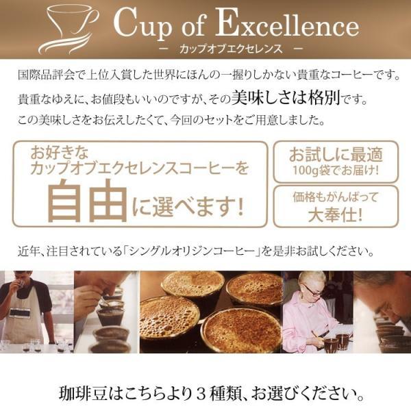 【豆のまま】カップオブエクセレンス自由に選べる3種類飲み比べセット (各100g・COEDB)/珈琲豆|gourmetcoffee|02