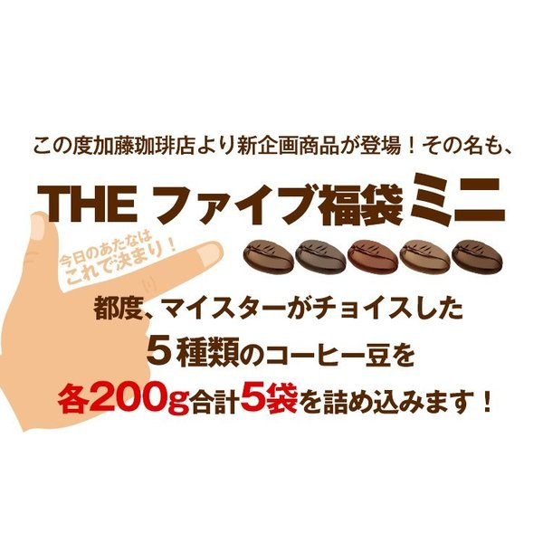 THEファイブ福袋ミニ(200g×5袋)/珈琲豆|gourmetcoffee|02