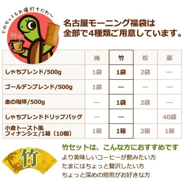 【竹】名古屋モーニング福袋(小倉×1・金×1・鯱×1/各500g)|gourmetcoffee|06