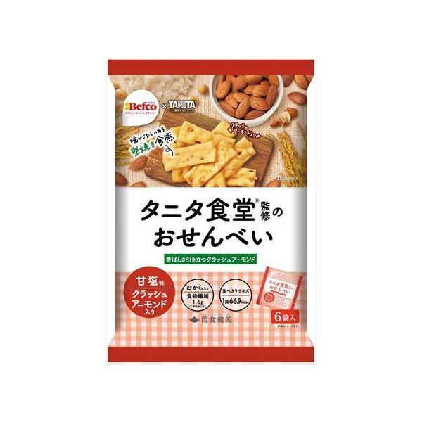 栗山米菓 タニタ食堂監修のおせんべい(アーモンド) 96g×12袋|goyougura-okawa