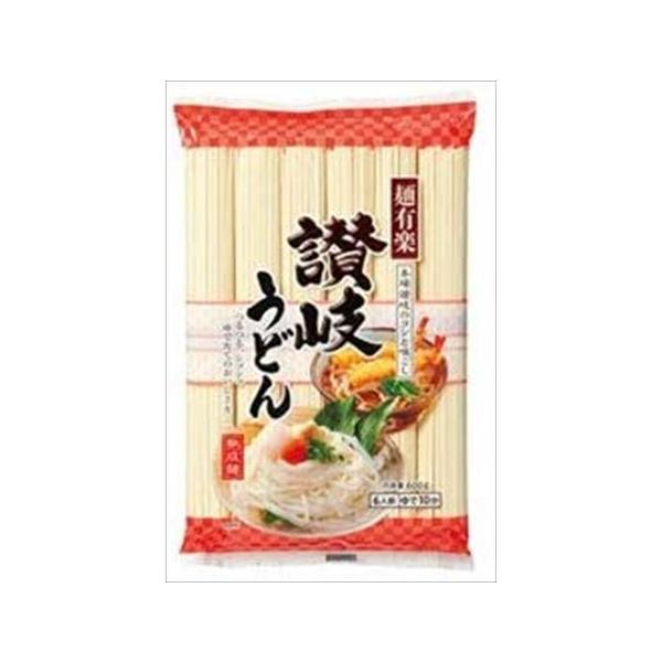 送料無料 麺有楽 讃岐うどん 600g×30袋入