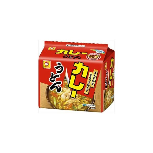 送料無料 マルちゃん カレーうどん 甘口 5食パック×12個入り