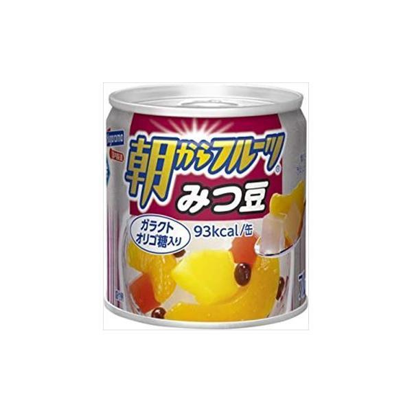 【24缶セット】はごろも 朝からフルーツ みつ豆 190g 1ケース【送料無料】
