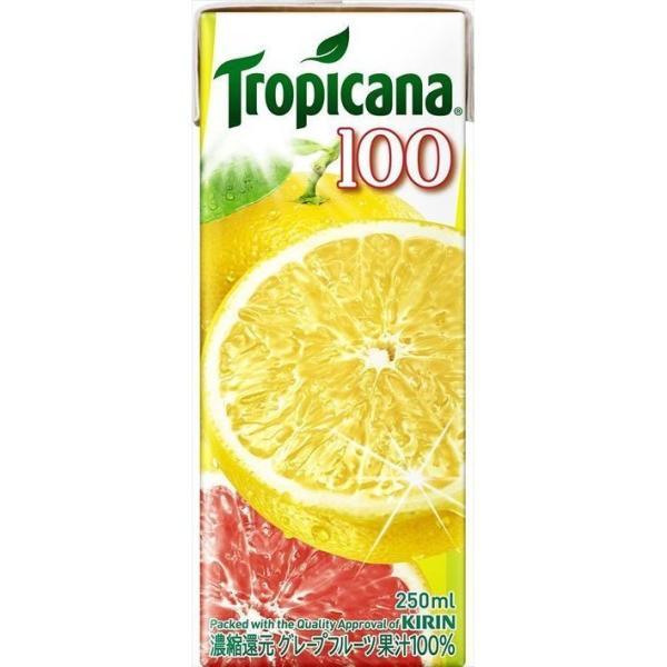 送料無料 キリン トロピカーナ 100%ジュース グレープフルーツ 250ml×24本