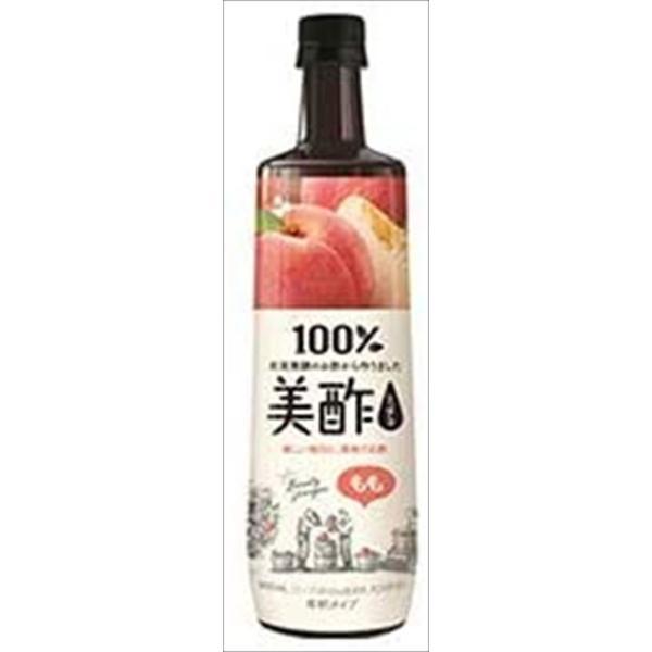 送料無料 CJジャパン プティチェル 美酢(ミチョ) もも 900ml×12本