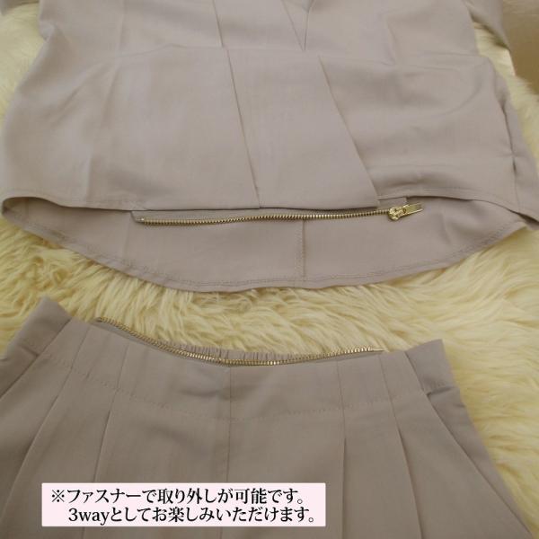 パンツドレス パンツスーツ 二点セット セットアップ Vネック 体型カバー 着痩せ 大きいサイズ ママ 母親 卒園式 卒業式 eae10|gracefulsmile|12