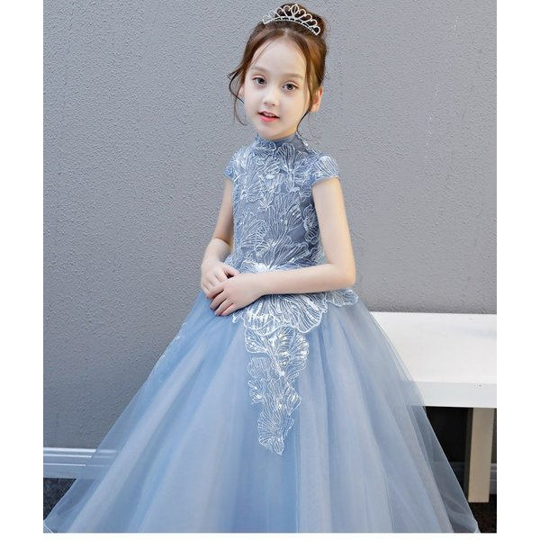 3a49dda8b7a6d1 ... 子供ドレス ロング ピアノ発表会 ワンピース 女の子 フラワーガール こども 発表会 ドレス 子供ドレス