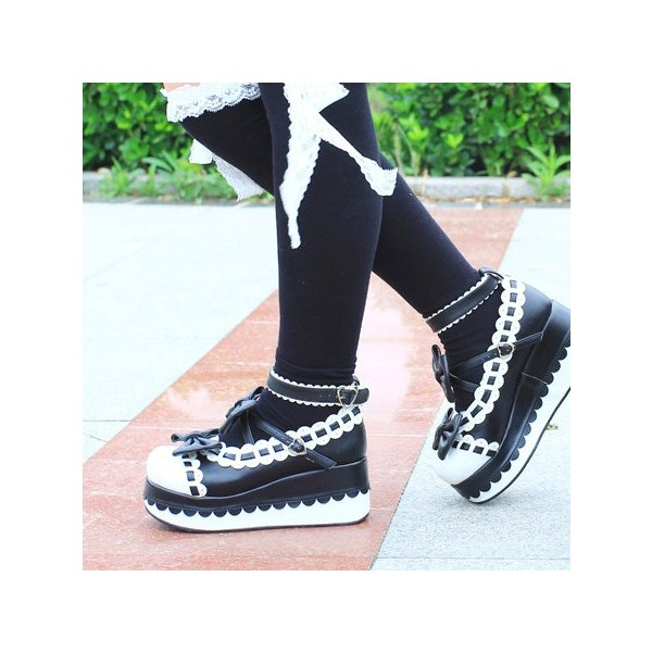 シューズ 大きいサイズ LOLITA 可愛い ロリータ靴 メイド靴 女の子 リボン付き パンプス ロリータ シューズ お嬢様