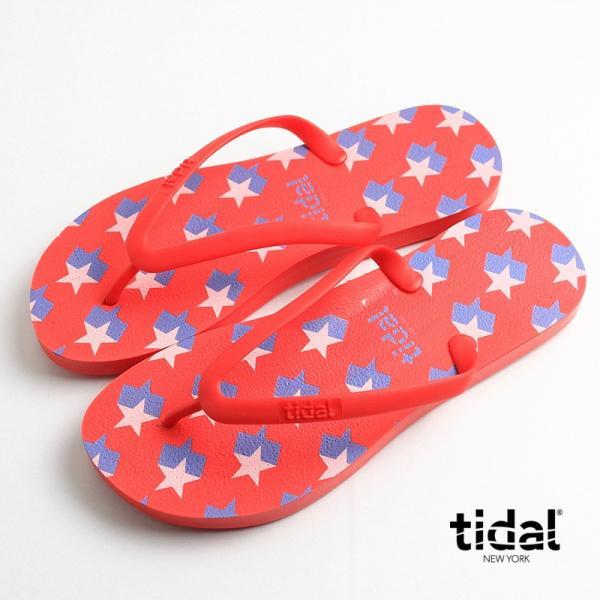 タイダルニューヨーク tidal NEW YORK ビーチサンダル レディース ビーサン MADE IN USA アメリカ製 スター 星