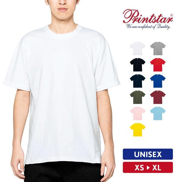 Tシャツ メンズ 半袖 無地 おしゃれ スポーツ アメカジ 厚手 綿100% Printstar(プリントスター) 7.4オンス スーパーヘビーTシャツ 00148-HVT|grafit